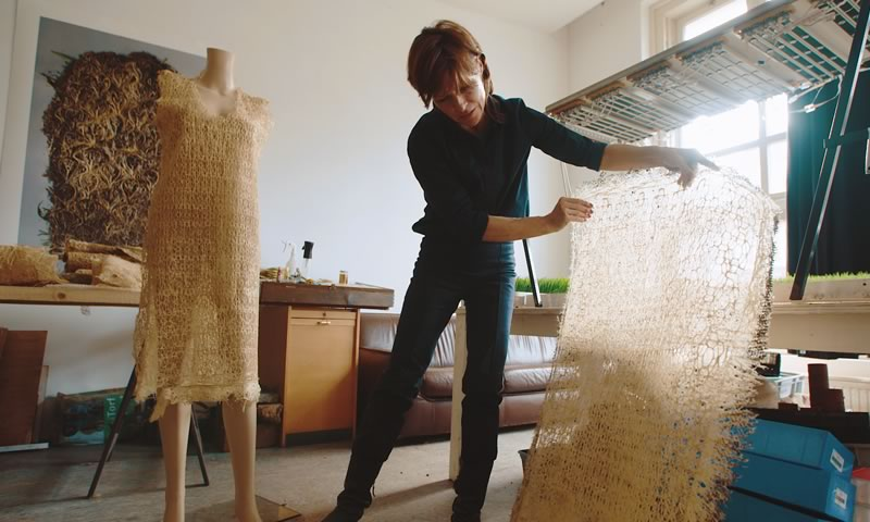 Diana Scherer, an artist, designer and plant root weaver from The Netherlands Fashioned From Nature by STROMA Films