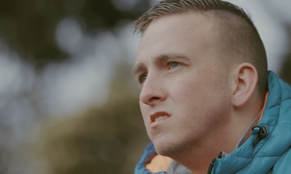 Scott Sutherland close-up. Life after a brain injury for Digby Brown by STROMA Films