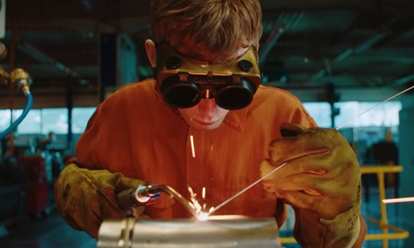 Young designer welding at Scottish Design Relay by STROMA Films