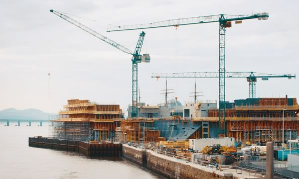 The V&A Dundee under construction by STROMA Films