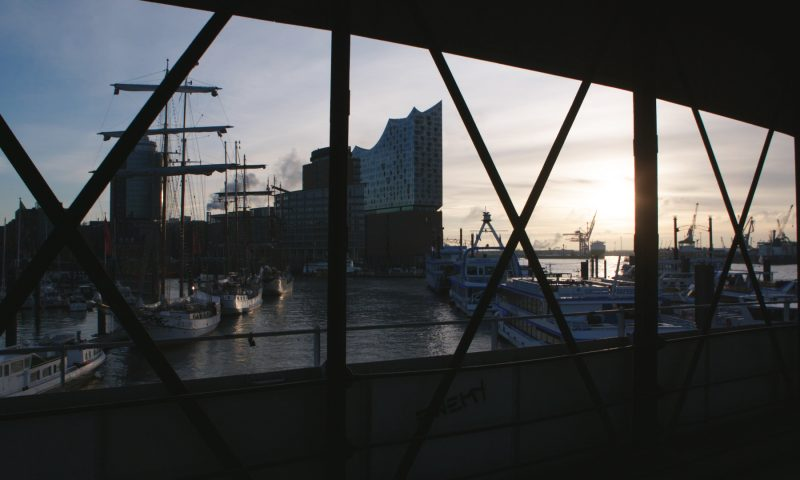 View of docks and ships Hamburg Germany - STROMA Films