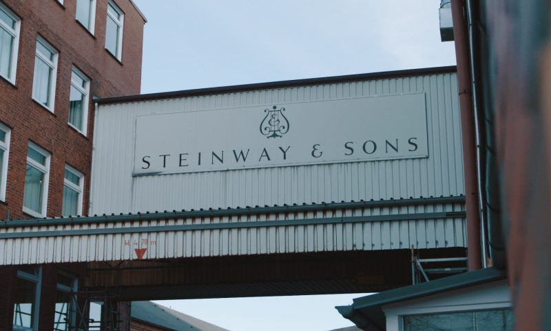 Outside view of Steinway & Sons Factory by STROMA Films