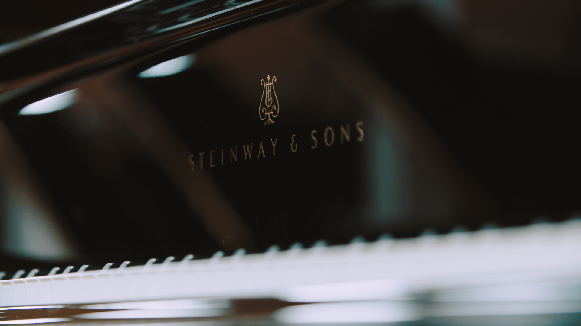 Steinway Piano close up for STROMA Films Piano film