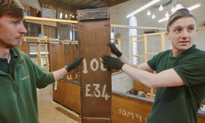 Charles Rennie Mackintosh - Oak room being build piece by piece